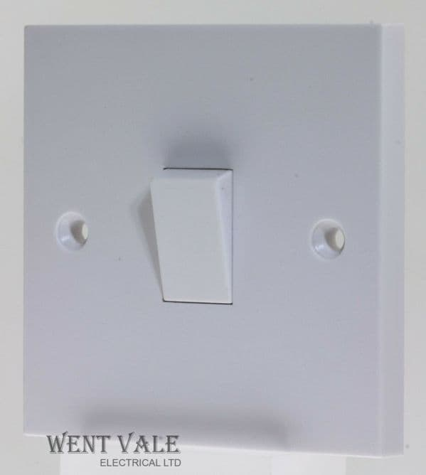 Schneider Exclusive Square Profile - GSW1G1W - 10a One Gang, One Way Switch New